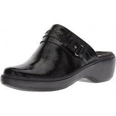 Clarks Women's Delana Amber Clog, Black Patent Leather