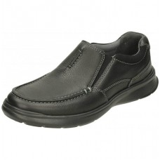 Clarks Mens Cotrell Free Black Oily Leather Shoes