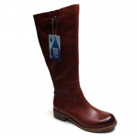 TAXI Women Knee High Boot Denver Tan Leather