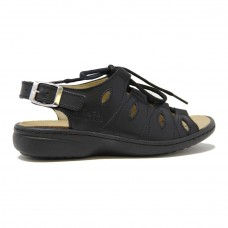 Volks Walkers 04970 Leather Sandal Black